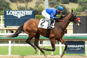 The Great One wins a maiden race by 14 lengths at Santa Anita Park