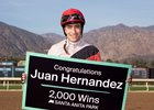 Juan Hernandez 2,000th win Santa Anita Park, February 28, 2021