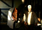 Trainer John Servis walks Smarty Jones around the shedrow at Philadelphia Park
