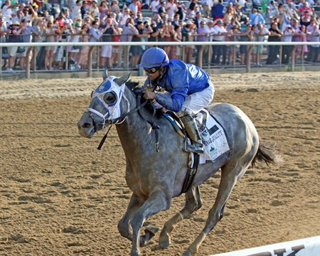 Essential Quality wins the Belmont Stakes at Belmont Park